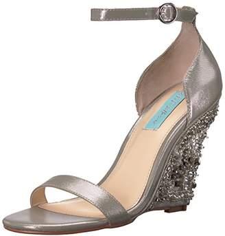 Betsey Johnson Blue Women's SB-Alisa Wedge Sandal