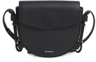 Skagen Mini Lobelle Leather Saddle Bag - Black $165 thestylecure.com
