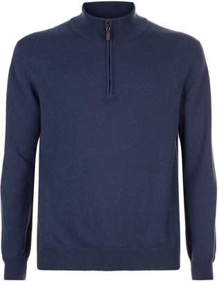 Harrods Cashmere Half Zip Sweater