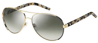 Marc Jacobs Goldtone 60mm Aviators