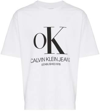 Calvin Klein Jeans Est. 1978 OK modernist logo T-shirt