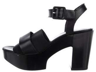 Rob-ert Robert Clergerie Leather Platform Sandals