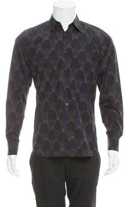 Prada Geometric Print Button-Up Shirt