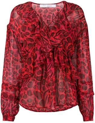 IRO printed ruffled blouse