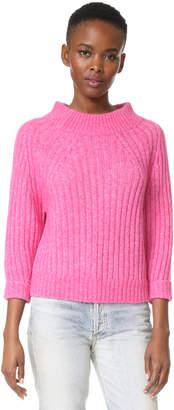 3.1 Phillip Lim 3/4 Sleeve Rib Pullover