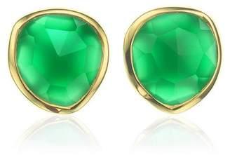 Monica Vinader GP Siren Stud Green Onyx earrings