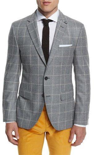 Hugo BossHugo Boss Jayson Windowpane Two-Button Sport Coat, Gray