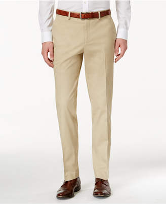 Bar III Men's Slim-Fit Tan Stretch Pants, Created for Macy's