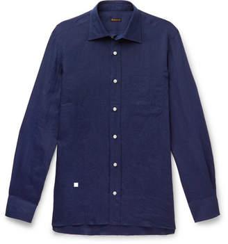 Rubinacci Slim-Fit Cutaway-Collar Linen Shirt