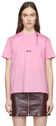 MSGM SSENSE Exclusive Pink Mini Logo T-Shirt