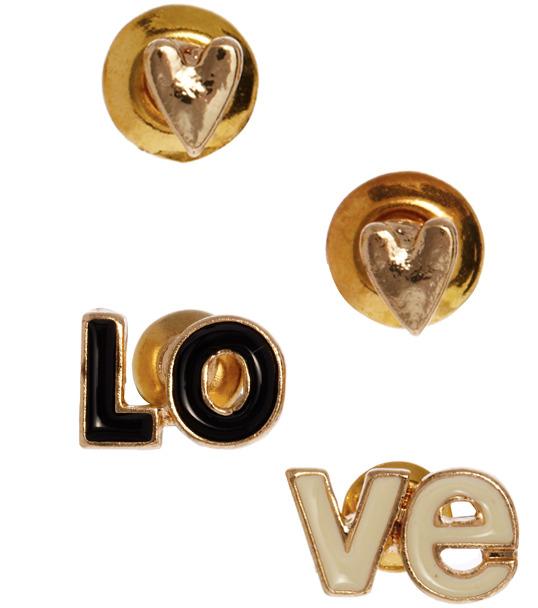 Asos Love Heart Earrings