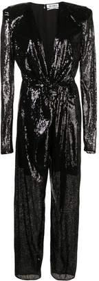 ATTICO black sequin jumpsuit