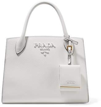 Prada Textured-leather Tote - White