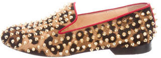 Christian Louboutin Christian Louboutin Leopard Rolling Spike Loafers