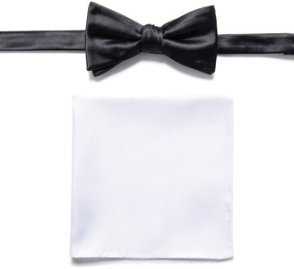 Apt. 9 Solid Pretied Bow Tie & Pocket Square