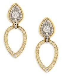 Pleve Opus Diamond& 18K Yellow Gold Pear Stud& Ear Jacket Set