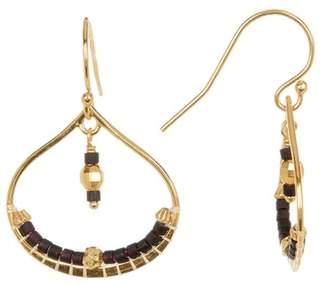 Chan Luu Bead Detail Open Drop Earrings