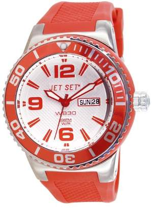 Jet Set J 55454-05-Wb30 Unisex Watch Analogue Quartz White Dial White Rubber Strap Orange