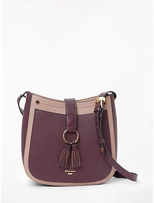 Dune Doory Small Cross Body Bag, Berry