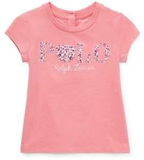 Ralph Lauren Childrenswear Baby Girl's Floral Polo Cotton Jersey Tee