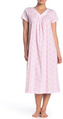 Carole Hochman Short Sleeve V-Neck Nightgown
