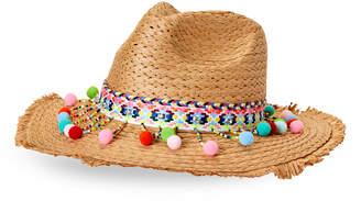 Betsey Johnson Shake Your Pom-Pom Panama Hat