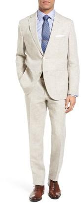 Men's Boss Janon/lenon Trim Fit Solid Linen Suit $945 thestylecure.com