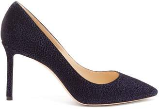 Jimmy Choo Romy 100 Suede Pumps - Womens - Navy