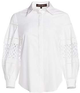 Carolina Herrera Women's Cotton Button Front Blouse