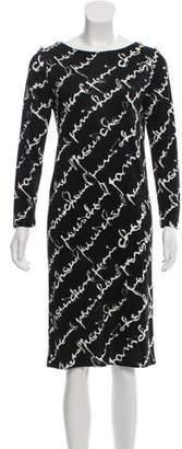 Chanel Long Sleeve Logo Dress