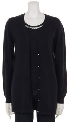 Christian Dior (クリスチャン ディオール) - ファッションウォーカー アウトレット インナー衿ぐり装飾付ワイドリブロングCDツイン