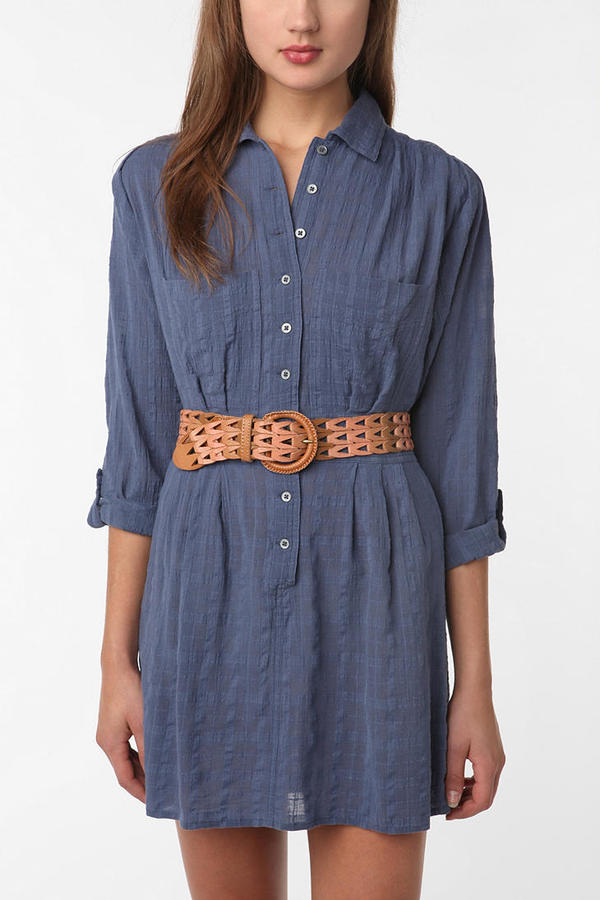 Staring at Stars Gauze Shirtdress