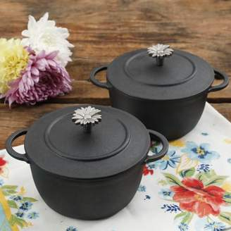 THE PIONEER WOMAN The Pioneer Woman Timeless Beauty Mini Preseason Plus Cast Iron Dutch Ovens, Set of 2