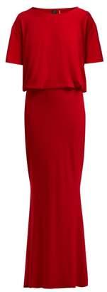 Norma Kamali Fishtail Maxi Dress - Womens - Red