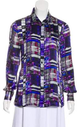 Armani Collezioni Abstract Print Long Sleeve Top