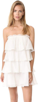 Red Carter Candy Ruffle Tiered Dress $180 thestylecure.com