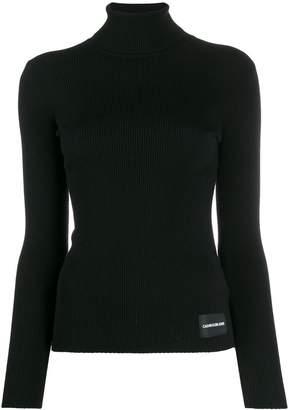 Calvin Klein Jeans ribbed slim-fit jumper