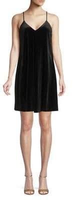 Laundry by Shelli Segal Velvet Spaghetti Strap Dress