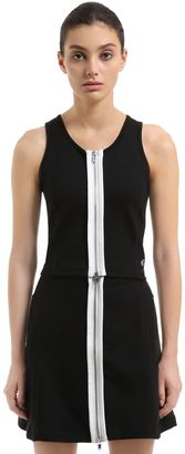 Wood Wood Zip-Up Stretch Cotton Top $107 thestylecure.com