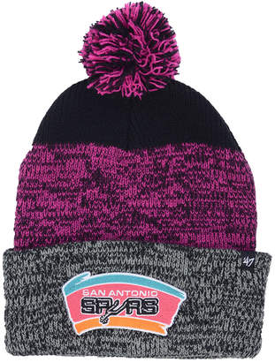 '47 San Antonio Spurs Black Static Pom Knit Hat