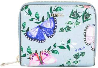 Furla butterfly print zip around wallet