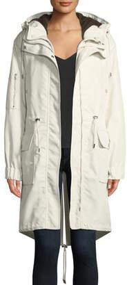 Theory Textured Twill Nylon Winter Parka Jacket