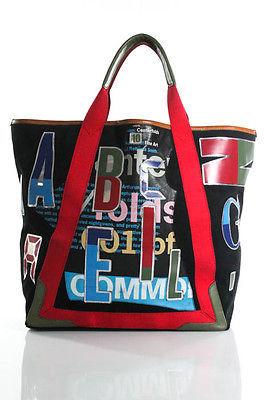 Balenciaga Balenciaga Multicolored Daim Alphabet Print Toe Handbag