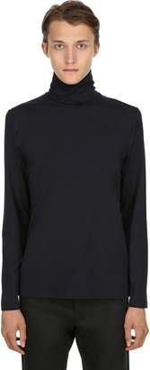 Jil Sander Cotton Long Sleeve Turtleneck T-Shirt
