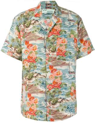 Off-White tropical print shirt
