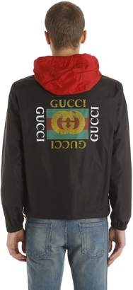 Gucci Vintage Logo Hooded Light Nylon Jacket