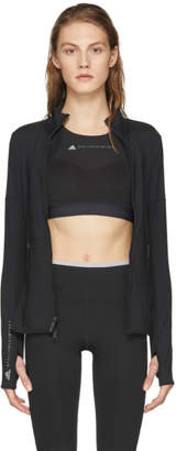 adidas by Stella McCartney Black Essentials Midlayer Zip-Up Jacket