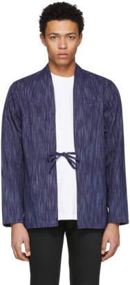 Naked & Famous Denim Denim SSENSE Exclusive Indigo Tie-Dye Shirt