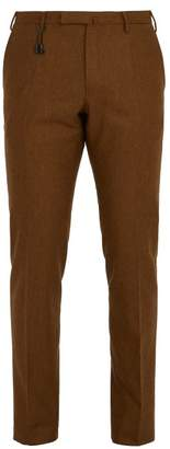 Incotex Slim Leg Wool Trousers - Mens - Brown
