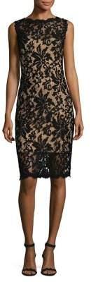 Tadashi Shoji Sleeveless Lace Knee-Length Dress
